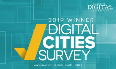 2019 Digital Cities Survey Winner by the Center for Digital Government